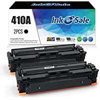 INK E-SALE Compatible Toner Cartridge Replacement for HP 2 Pack Black CF410A 410A for HP Color Laserjet Pro MFP M477fdw…