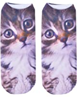 3D Print Socks Face Cat Desige Women Girls Cotton Elastic Socks New Create