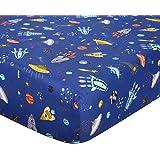 UOMNY Crib Sheet 100% Cotton Fitted Crib Sheet Baby Sheet for Standard Crib and Toddler mattresses Nursery Bedding Sheet Crib