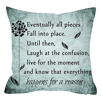 Amazoncom Niditw Eventually All Pieces Fall Into Place Quote