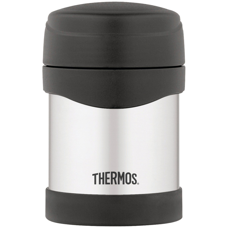 Thermos 10 oz Stainless Steel Food Jar Black Flask Coffee ...