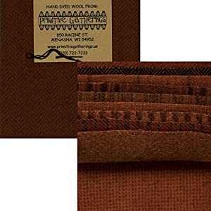 Primitive Gatherings Hand Dyed Wool Pumpkin Charm Pack 10 5-inch Squares PRI 6002