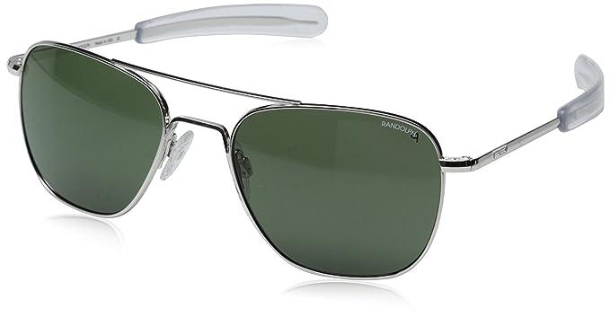 8f227cc2b Randolph Aviator anteojos de sol polarizados, White Gold Plated/Agx, 55 mm