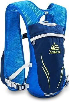 Win.Deeper 5.5L Mochila Hidratación Running Mochila Ligera Impermeable y Transpirable para Viajes, Senderismo, Camping,Correr,Caminar,Escalada