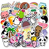 Stickers for Water Bottle, 51 PCS Cute Aesthetic Trendy Vinyl Waterproof Sticker Pack for Laptop Suitcase Car Notebook…