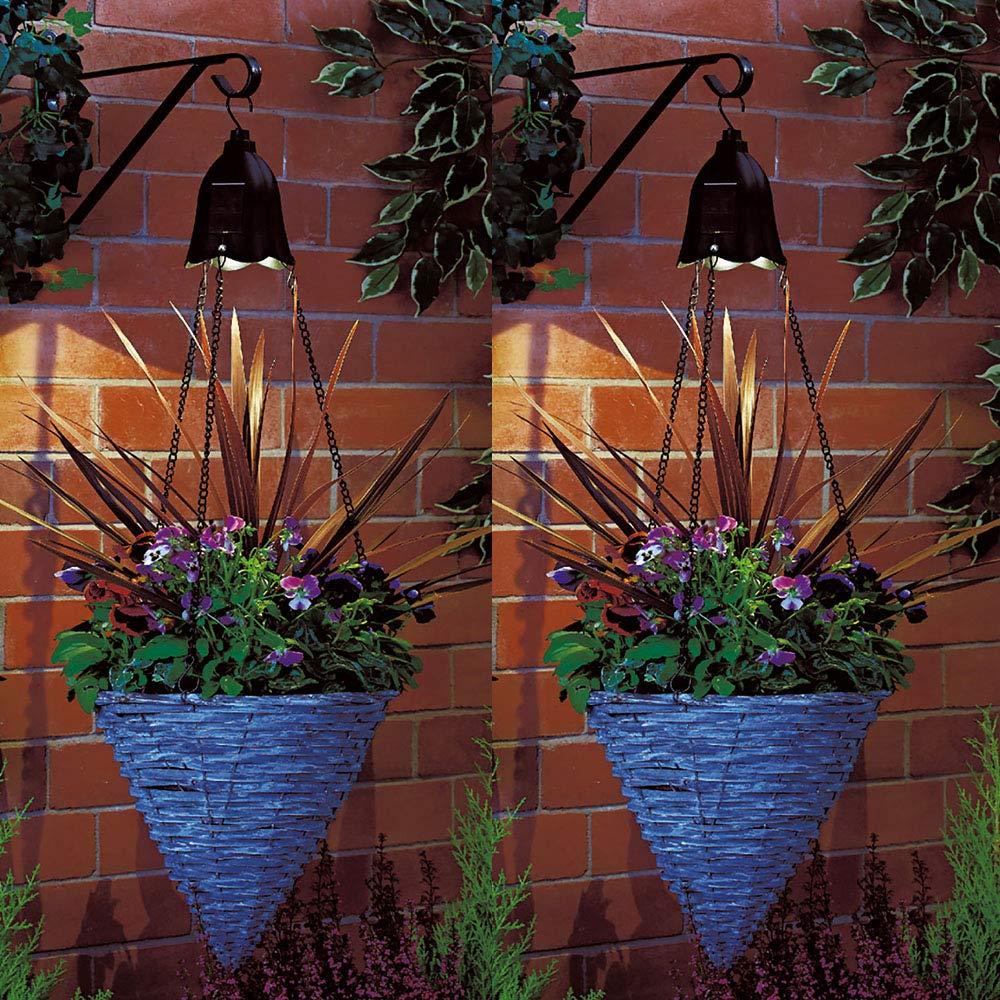 Solar Powered Hanging Basket Lights Flower Planter Outdoor Garden ...