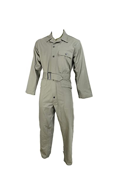 Size XL Mechanics-Style Coveralls Mil-Tec French Army Style OD Coveralls XL