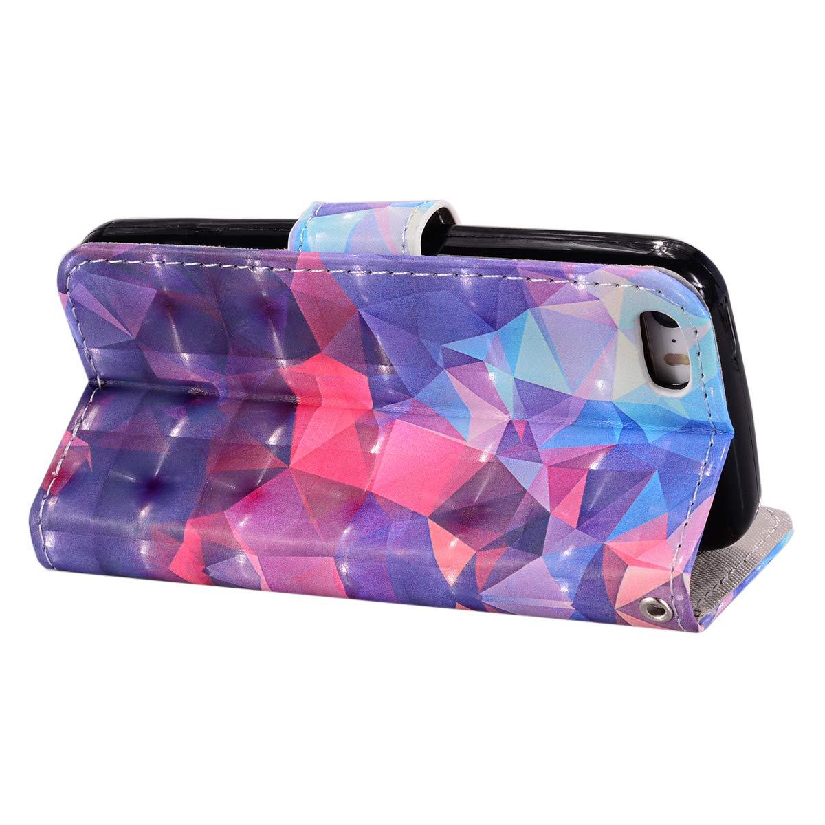 Schmetterling 5 H/ülle Tasche Leder PU Handyh/ülle 3D Creative Bunt Muster Leder Wallet Case Flip Cover Klapph/ülle Brieftasche Lederh/ülle mit Kartenf/ächer Felfy Kompatibel mit iPhone SE 5S