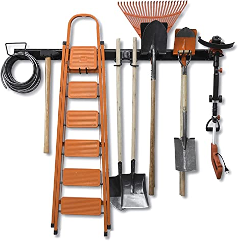 6pcs Bike Hooks Storage Hanging Hanger Home Garage Garden Tool Mop Organizer