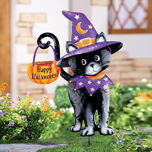Encantador bienvenida bruja gato negro Glittler disfraz Halloween ...