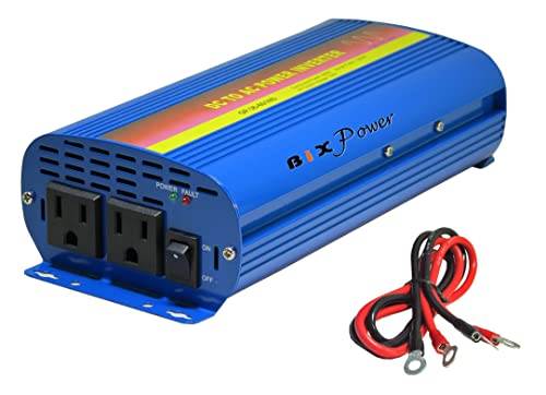 BiXPower 36V 29V 45V DC to 110V AC 600W True Pure Sine Wave AC Power Inverter