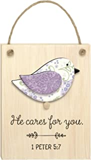 "product image for Imagine Design 3.5""x 6"" He Cares Chirps Plaque"
