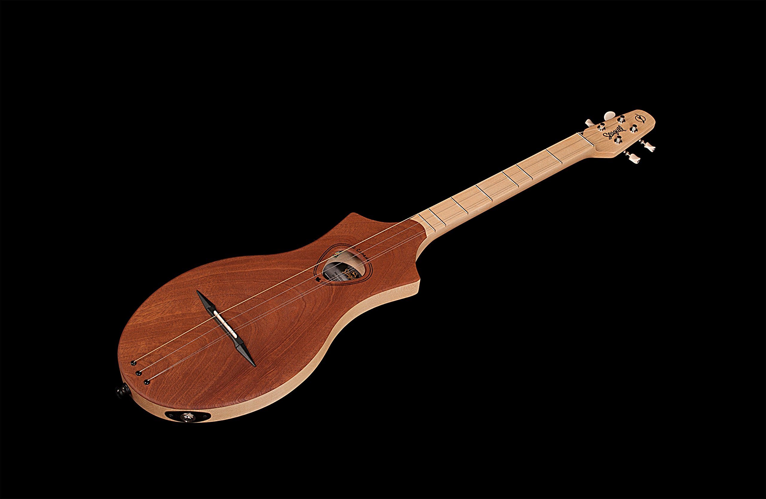 Seagull 042517 M4 Merlin Mahogany EQ Acoustic-Electric Dulcimer with Seagull Gig Bag and Godin Tuner