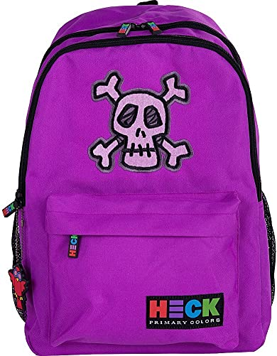 Ed Heck 17-Inch Backpack Skull Purple