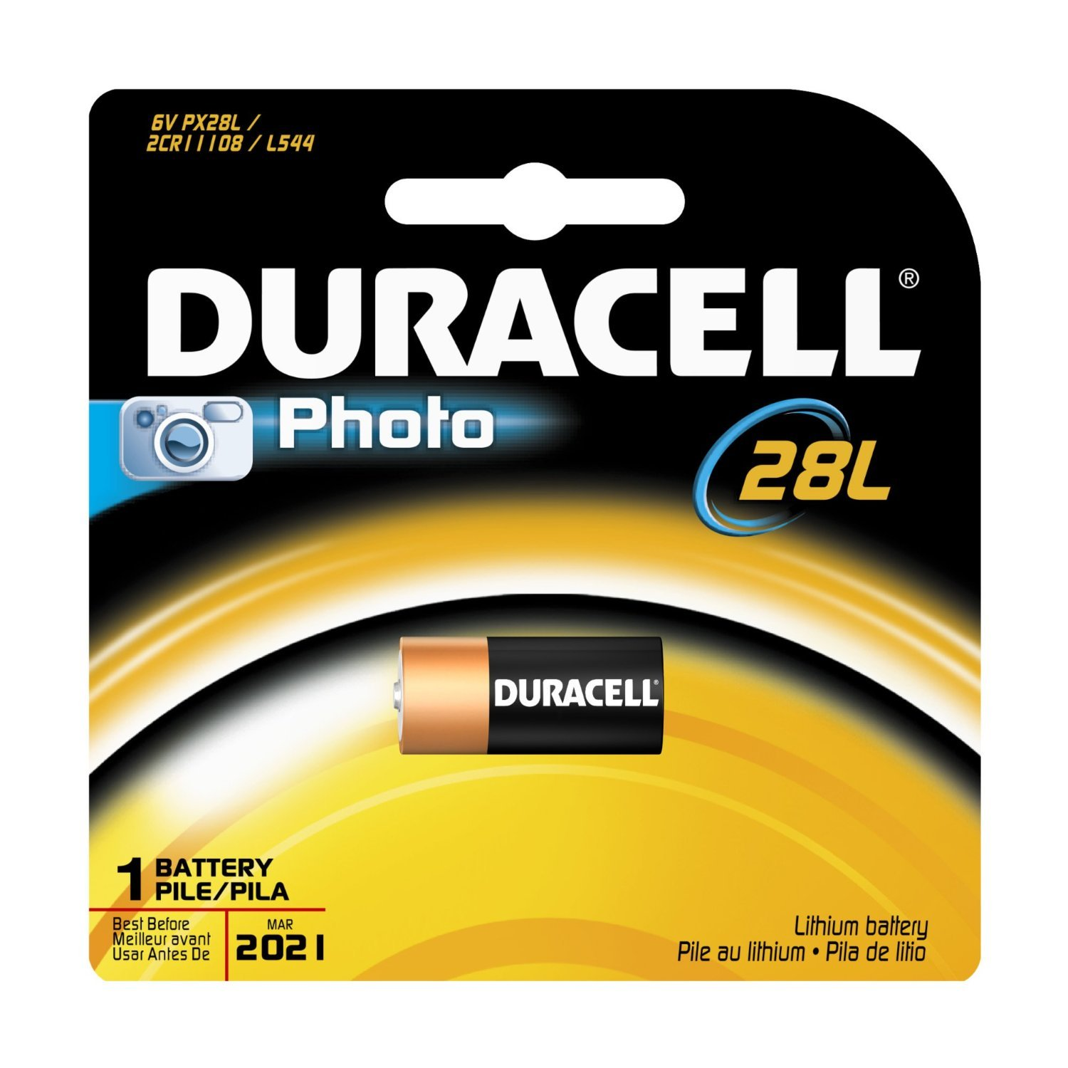 Duracell Photo 28L Battery 1 EA - Buy Packs and SAVE (Pack of 4)