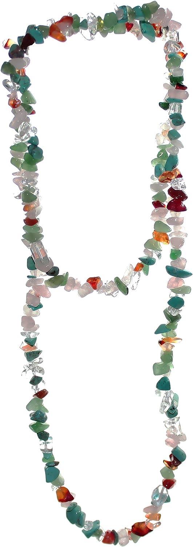 °°° Fluorit Edelstein Kette Bunt endlos 90 cm Splitter//Halskette ohne Verschluss