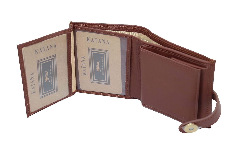 Choco KATANA Porte Monnaie en Cuir r/éf 753035 4 Couleurs Disponible