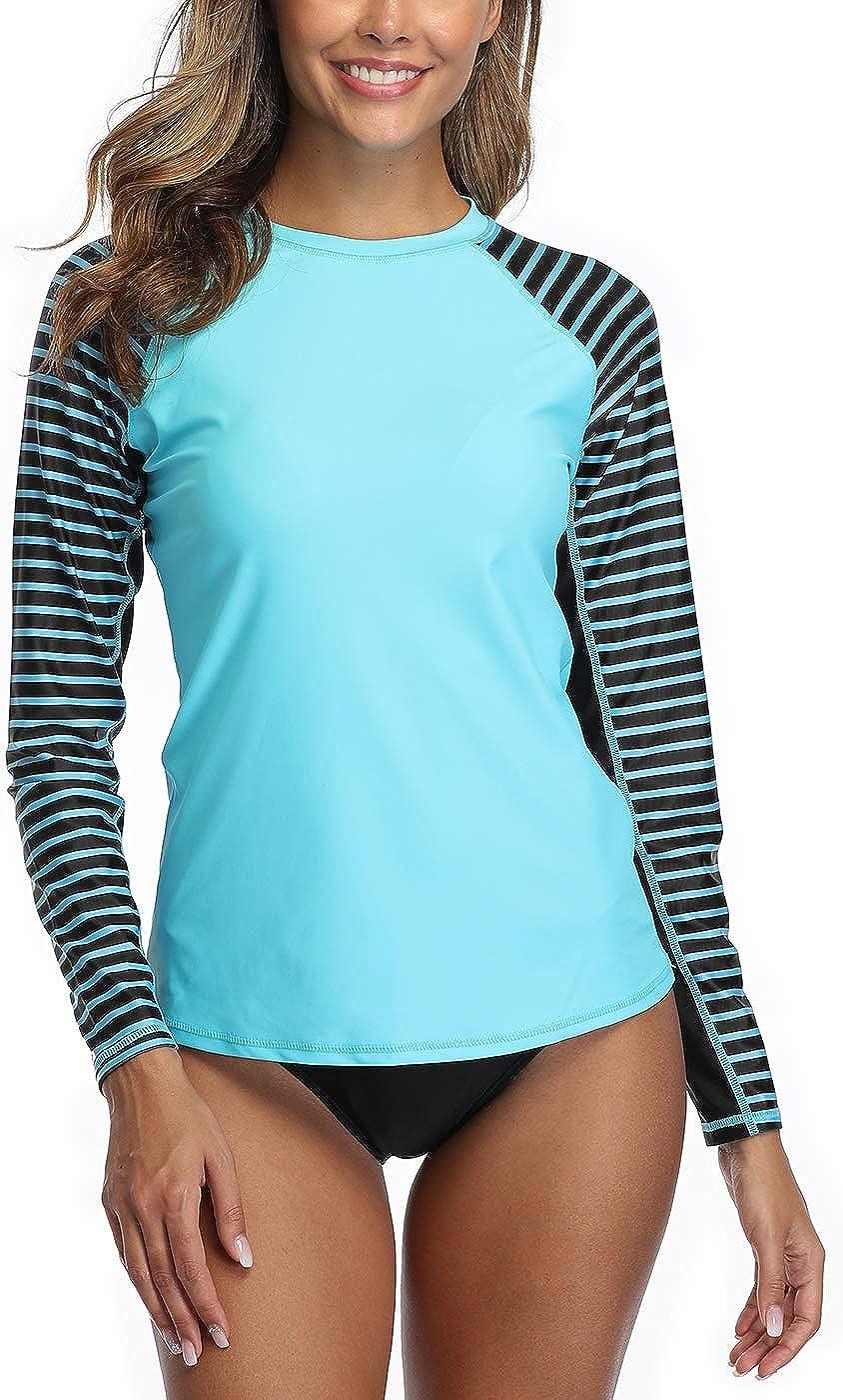 EZIGO Rash Guard Women Long Sleeve Rash Guard Shirt UPF 50+ Swimsuit Rash  Guard Swimwear Top at Amazon Women's Clothing store