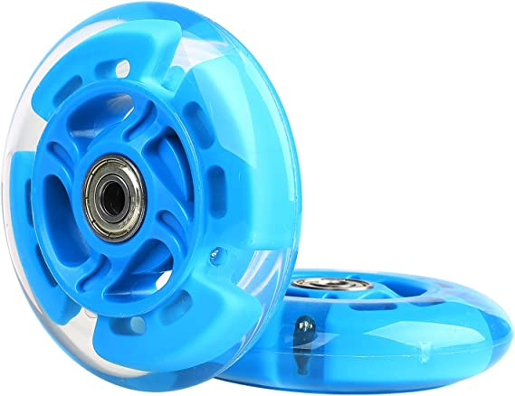 Kutrick 2 Scooter Wheels 100mm Pair LED Scooter with ABEC 9 Bearings for Razor Scooter 100mm A Spark Spark 2.0 and A Sweet Pea and All 100mm pro or Kick Scooter A2 A4