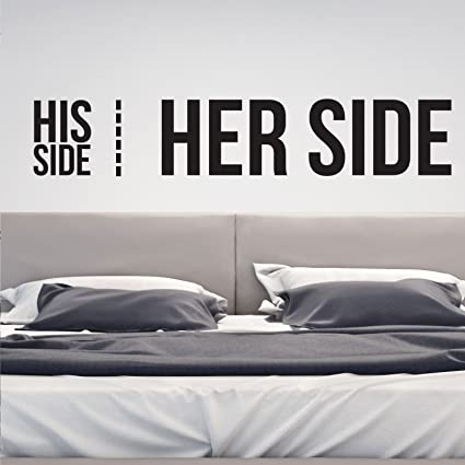 . Amazon com  Vinyl Wall Art Decal   His Side Her Side   10  x 50