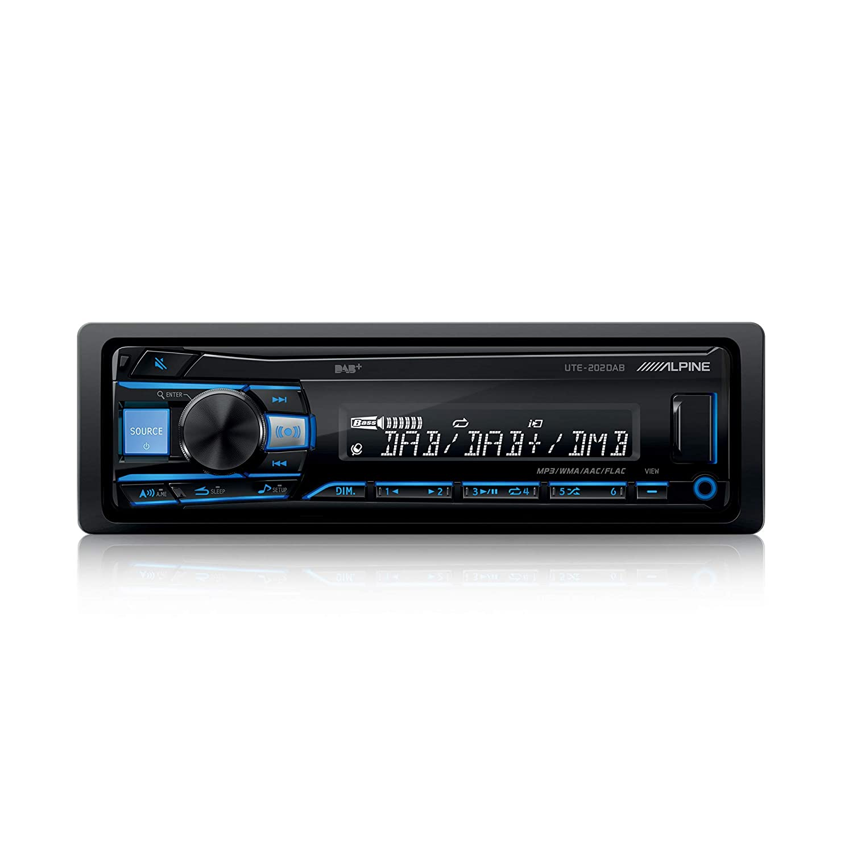 Negro Alpine UTE-202DAB Autorradio Bluetooth USB