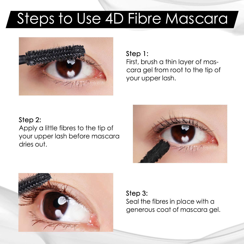 8845e1f62ea Amazon.com: 4D Silk Fiber Lash Mascara, MayBeau Waterproof Hypoallergenic  Fiber Mascara Set for Eyelash Lengthening, Smudge-proof, Long Lasting Eye  Makeup ...