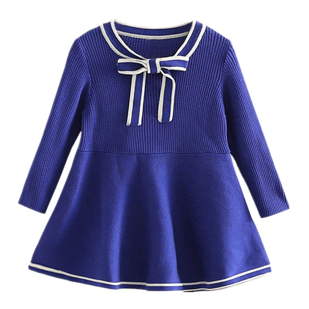 LittleSpring Girls' Dress School Style Size 2T Blue