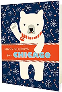 product image for Night Owl Paper Goods Polar Chicago Holiday Cards (10 Pack)