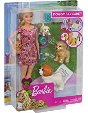 Barbie Doggy Daycare Doll & Pets Playset