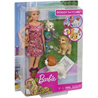 Barbie Doll & Doggy Daycare Pets Playset