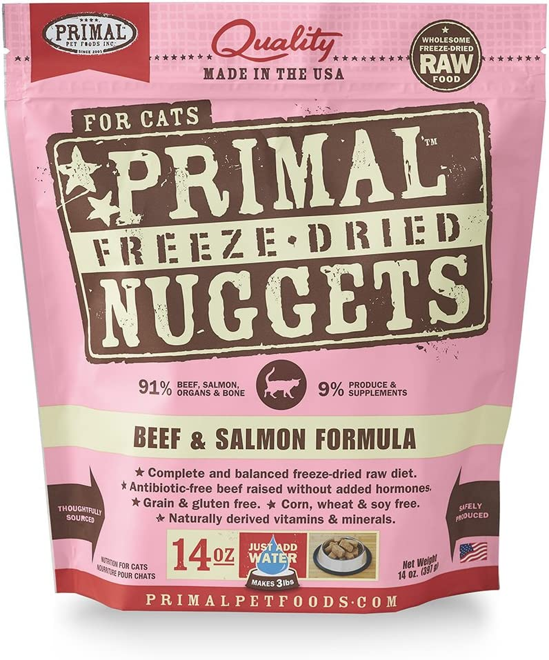 Primal Pet Foods Freeze-Dried Feline Beef And Salmon Formula 14Oz
