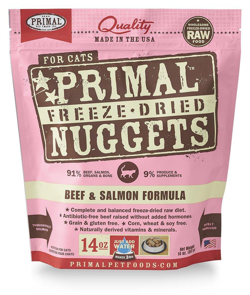 Primal Freeze - Comida para gatos de carne seca y salmón (14oz): Amazon.es: Productos para mascotas