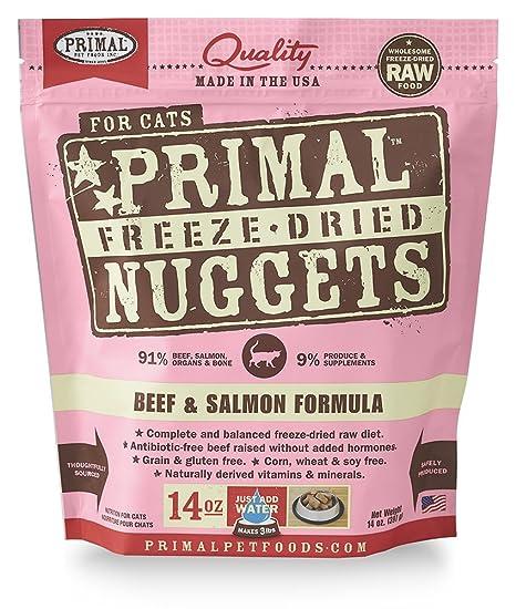 Primal Freeze - Comida para gatos de carne seca y salmón ...