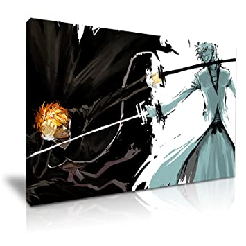 Bleach Anime Japanische Manga Gespannte Leinwand Druck 76 Cm X 50