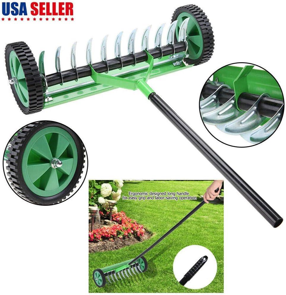 Unik Always Heavy-Duty Rolling Lawn Aerator
