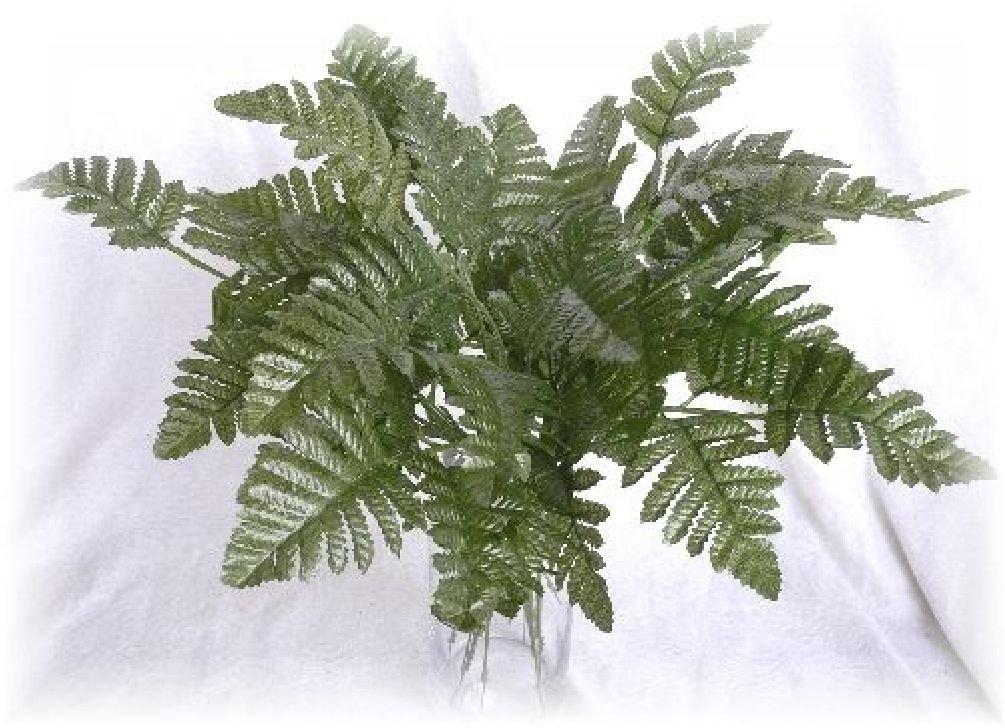 12グリーンレザーFern Leaves StemウェディングCenterpiece人工greeneries B074NZQ6C4