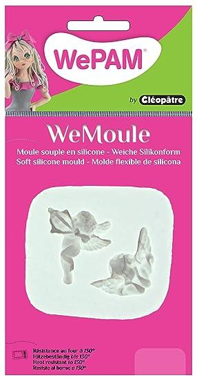 WePAM - PF12MF29 - WeMoule - Molde de silicona para moldear ángel y Cupido con porcelana fría: Amazon.es: Oficina y papelería
