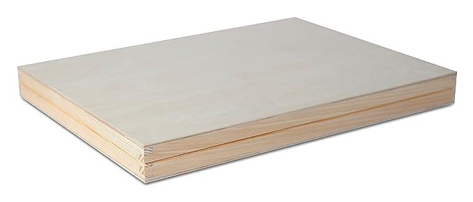 A4 Caja Madera para Decorar   33,2 x 25,2 x 5,3 cm   con Tapa y Cerradura   Decoracion Almacenaje Herramiente Papel Carta Decoupage Documentos Objetos de ...