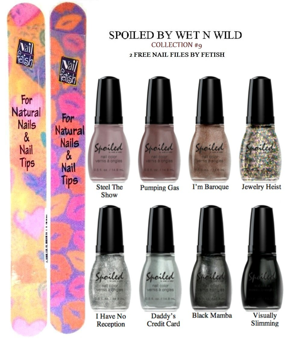 Amazon.com : WET N WILD Spoiled Nail Color COLLECTION #9 OF 8 Shades ...