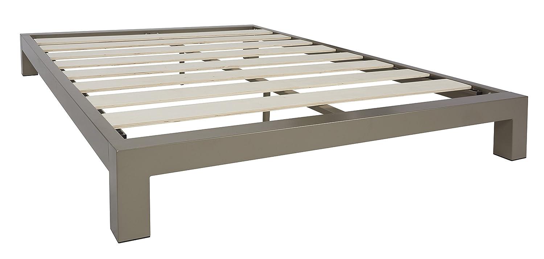 stella metal platform bed frame modern finish thick