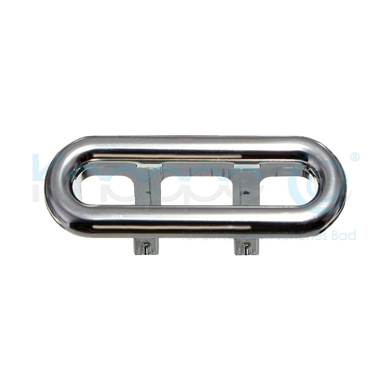 KNOPPO® Waschbecken Design Überlaufblende/Sink Overflow Cover - Pool 2 oval (chrom)