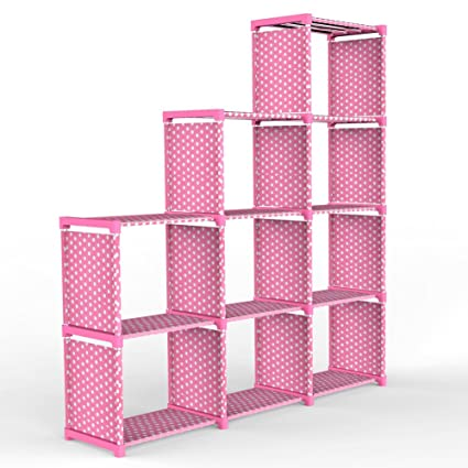 Amazon.com: Jollyoner 4-tier Storage Cube Closet Organizer Shelf ...