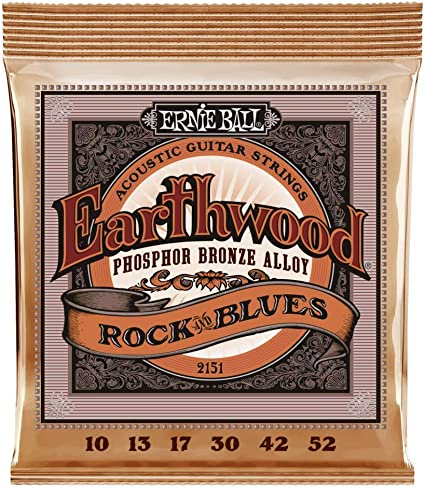 Ernie Ball Earthwood Rock y Blues w/Plain G Cuerdas de guitarra ...