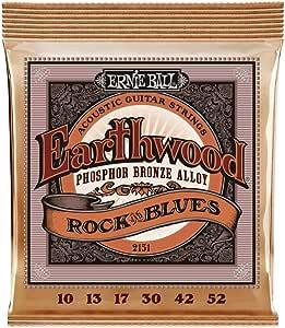 Ernie Ball Earthwood Rock y Blues w/Plain G Cuerdas de guitarra ...