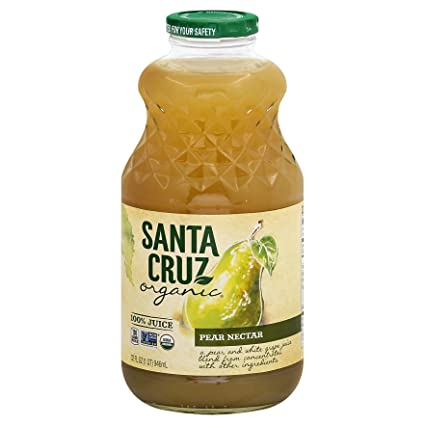 Santa Cruz, zumo, Pear Nectar, orgánico, 1 Quart: Amazon.com ...