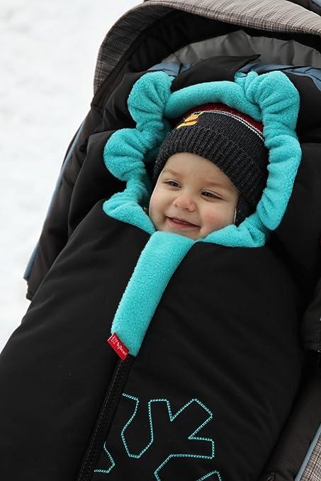 Byboom Softshell Winterfußsack Thermo Aktiv Für Kinderwagen Und Buggy Farbe Braun Beige Baby