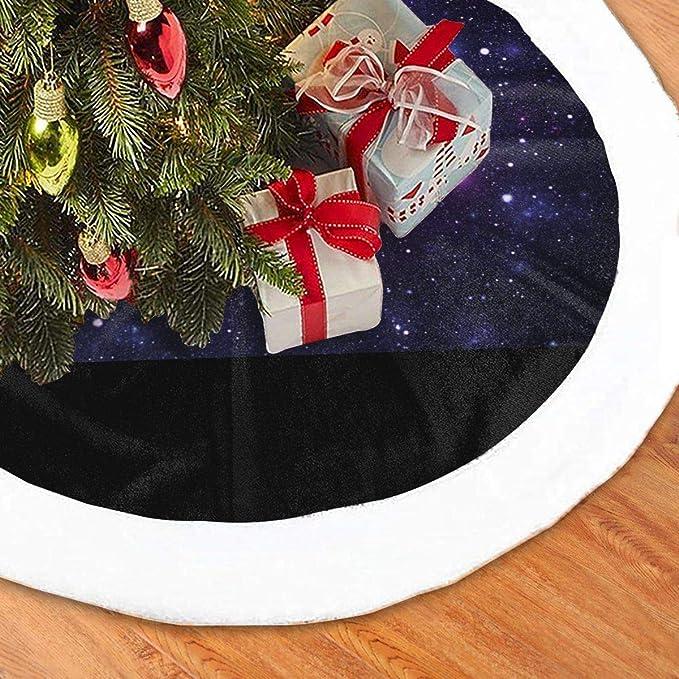 N/A Falda para árbol de Navidad, Galaxia, Espacio, Navidad, Fiesta ...
