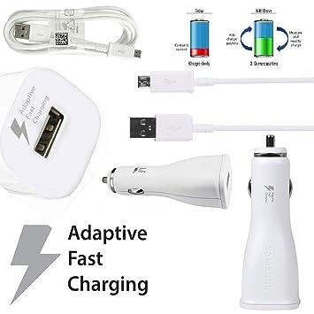 SAMSUNG Modular Coche Cargador rápido Cable de Carga EP de ln915 Micro-USB – Color Blanco – 11 – 30 V – 2 A – para teléfonos móviles Compatible con ...