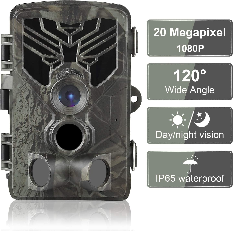 DIGITNOW 16MP C/ámaras de Caza 1080P FHD Impermeable,Gran Angular de 120/° y 42pcs IR LED Infrarrojo Visi/ón Nocturna con hasta 80FT//25m,Sendero Juego Camera Cazar Vigilancia de la Fauna