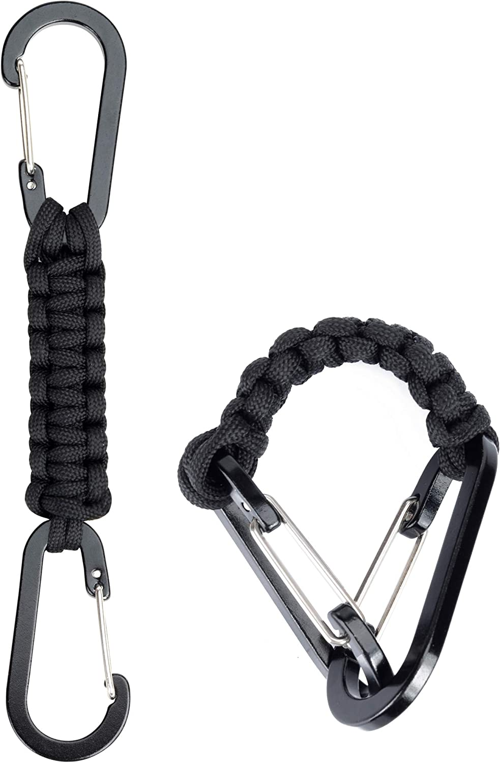 2 PCS Tactical Multi-functional Paracord Keychains with Rings Lanyards Key Chain